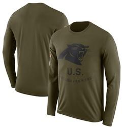 Carolina Panthers Legend Men's 2018 Salute to Service Sideline Performance Long Sleeve T-Shirt (Olive)