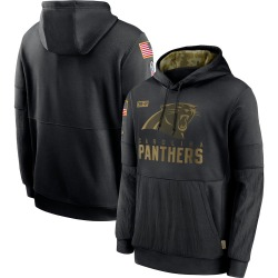 Carolina Panthers Men's 2020 Salute to Service Sideline Performance Pullover Hoodie (Black)