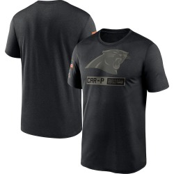 Carolina Panthers Men's 2020 Salute to Service Team Logo Performance T-Shirt (Black)