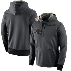 Carolina Panthers Men's Salute to Service Player Performance Hoodie (Anthracite)