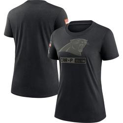 Carolina Panthers Women's 2020 Salute To Service Performance T-Shirt (Black)