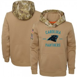 Carolina Panthers Youth Khaki 2019 Salute to Service Therma Pullover Hoodie ()
