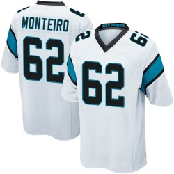 Aaron Monteiro Carolina Panthers Game Youth Jersey (White)