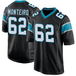 Aaron Monteiro Carolina Panthers Game Youth Team Color Jersey (Black)