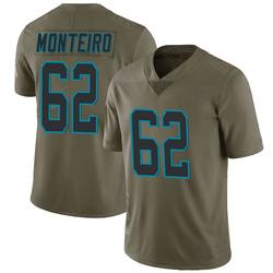 Aaron Monteiro Carolina Panthers Limited Men's 2017 Salute to Service Jersey (Green)