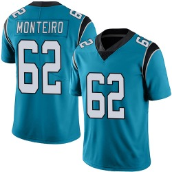 Aaron Monteiro Carolina Panthers Limited Youth Alternate Vapor Untouchable Jersey (Blue)
