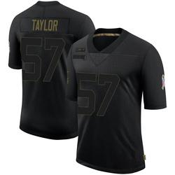 Adarius Taylor Carolina Panthers Limited Men's 2020 Salute To Service Jersey (Black)