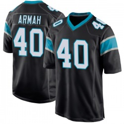Alex Armah Carolina Panthers Game Youth Team Color Jersey (Black)