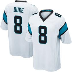 Austin Duke Carolina Panthers Game Men's Jersey (White)
