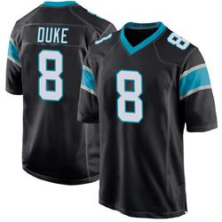 Austin Duke Carolina Panthers Game Youth Team Color Jersey (Black)
