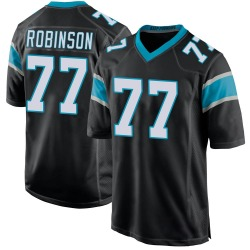 Austrian Robinson Carolina Panthers Game Youth Team Color Jersey (Black)