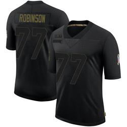 Austrian Robinson Carolina Panthers Limited Men's 2020 Salute To Service Jersey (Black)
