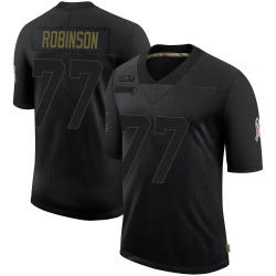 Austrian Robinson Carolina Panthers Limited Youth 2020 Salute To Service Jersey (Black)