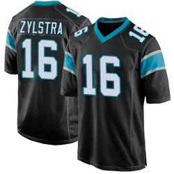 Brandon Zylstra Carolina Panthers Game Youth Team Color Jersey (Black)