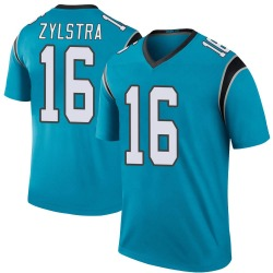 Brandon Zylstra Carolina Panthers Legend Men's Color Rush Jersey (Blue)