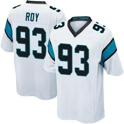 Bravvion Roy Carolina Panthers Game Men's Jersey (White)