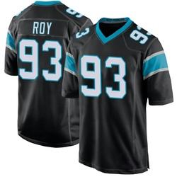 Bravvion Roy Carolina Panthers Game Youth Team Color Jersey (Black)