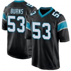 Brian Burns Carolina Panthers Game Youth Team Color Jersey (Black)