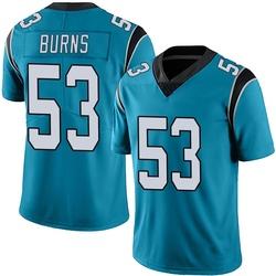 Brian Burns Carolina Panthers Limited Men's Alternate Vapor Untouchable Jersey (Blue)