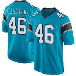 Cam Sutton Carolina Panthers Game Youth Alternate Jersey (Blue)