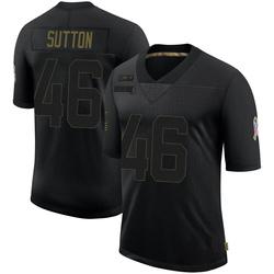 Cam Sutton Carolina Panthers Limited Men's 2020 Salute To Service Jersey (Black)