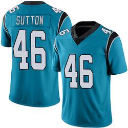 Cam Sutton Carolina Panthers Limited Men's Alternate Vapor Untouchable Jersey (Blue)