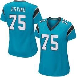 Cameron Erving Carolina Panthers Game Women's Alternate Jersey (Blue)