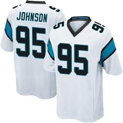 Charles Johnson Carolina Panthers Game Men's Jersey (White)
