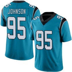 Charles Johnson Carolina Panthers Limited Men's Alternate Vapor Untouchable Jersey (Blue)