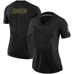Charles Johnson Carolina Panthers Limited Women's 2020 Salute To Service Jersey (Black)