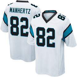 Chris Manhertz Carolina Panthers Game Youth Jersey (White)
