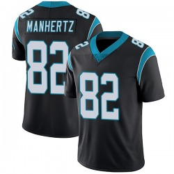 Chris Manhertz Carolina Panthers Limited Men's Team Color Vapor Untouchable Jersey (Black)