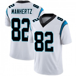 Chris Manhertz Carolina Panthers Limited Men's Vapor Untouchable Jersey (White)