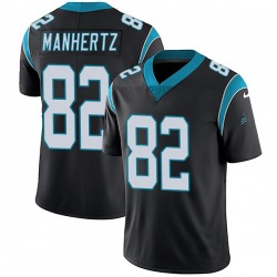 Chris Manhertz Carolina Panthers Limited Youth Team Color Vapor Untouchable Jersey (Black)