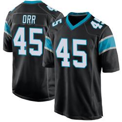 Chris Orr Carolina Panthers Game Men's Team Color Jersey (Black)