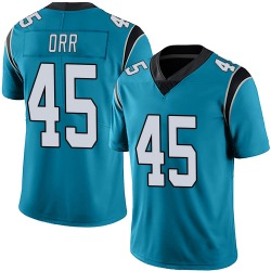 Chris Orr Carolina Panthers Limited Men's Alternate Vapor Untouchable Jersey (Blue)