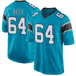 Chris Reed Carolina Panthers Game Men's Alternate Jersey (Blue)