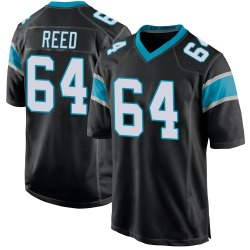 Chris Reed Carolina Panthers Game Men's Team Color Jersey (Black)