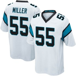 Christian Miller Carolina Panthers Game Youth Jersey (White)