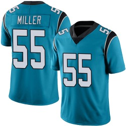 Christian Miller Carolina Panthers Limited Men's Alternate Vapor Untouchable Jersey (Blue)