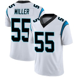 Christian Miller Carolina Panthers Limited Youth Vapor Untouchable Jersey (White)