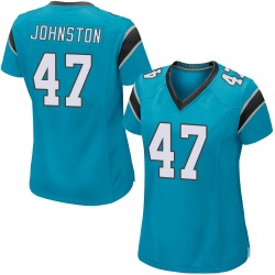 Clay Johnston Carolina Panthers Game Women's Alternate Jersey (Blue)