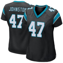 Clay Johnston Carolina Panthers Game Women's Team Color Jersey (Black)
