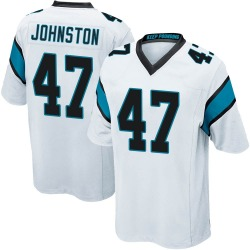Clay Johnston Carolina Panthers Game Youth Jersey (White)