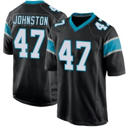Clay Johnston Carolina Panthers Game Youth Team Color Jersey (Black)