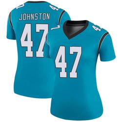 Clay Johnston Carolina Panthers Legend Women's Color Rush Jersey (Blue)