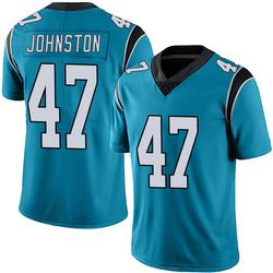 Clay Johnston Carolina Panthers Limited Men's Alternate Vapor Untouchable Jersey (Blue)
