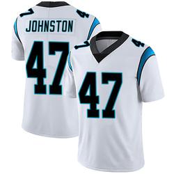 Clay Johnston Carolina Panthers Limited Men's Vapor Untouchable Jersey (White)
