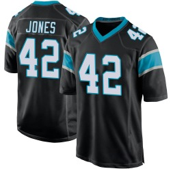 Colin Jones Carolina Panthers Game Youth Team Color Jersey (Black)