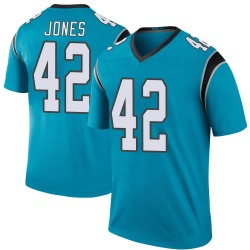 Colin Jones Carolina Panthers Legend Youth Color Rush Jersey (Blue)